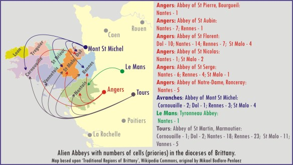 Map of Alien Cells and Mother Abbeys