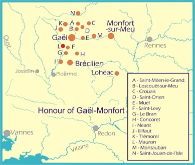 Map: Honour de Gael-Montfort