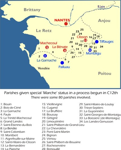 Map: Marcher Parishes