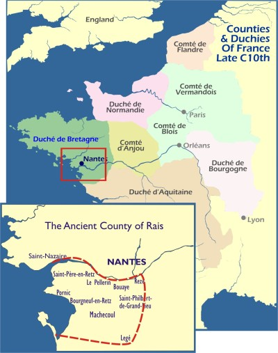 Map: Le Retz in context