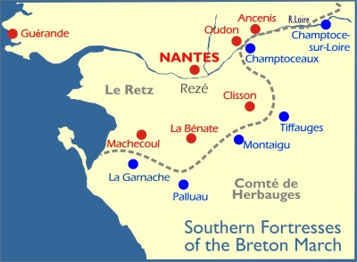 Map: Southern Fortresses of Breton Marches