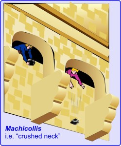 machicollis = neck-crusher